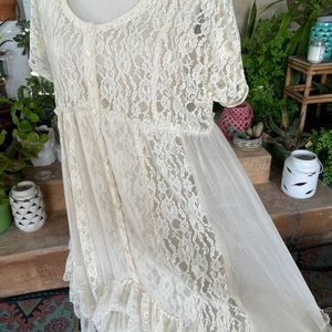 Free People Sheer lace casual Summer wedding Dress